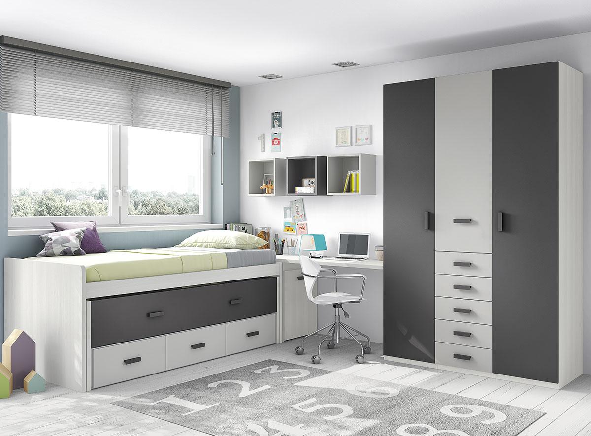 Dormitorios juveniles muebles rogelio gurrea for Dormitorios juveniles modernos de diseno