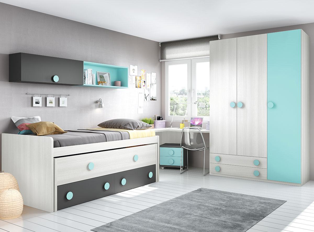Dormitorios juveniles muebles rogelio gurrea for Dormitorios infantiles y juveniles