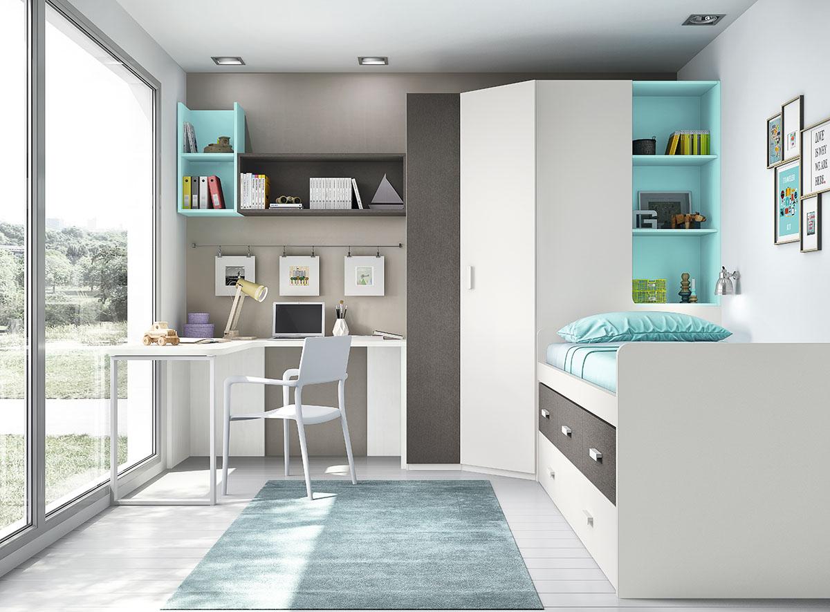 Dormitorios juveniles muebles rogelio gurrea for Dormitorios juveniles modernos precios