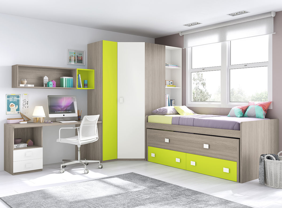 Dormitorios juveniles muebles rogelio gurrea for Muebles mago dormitorios juveniles