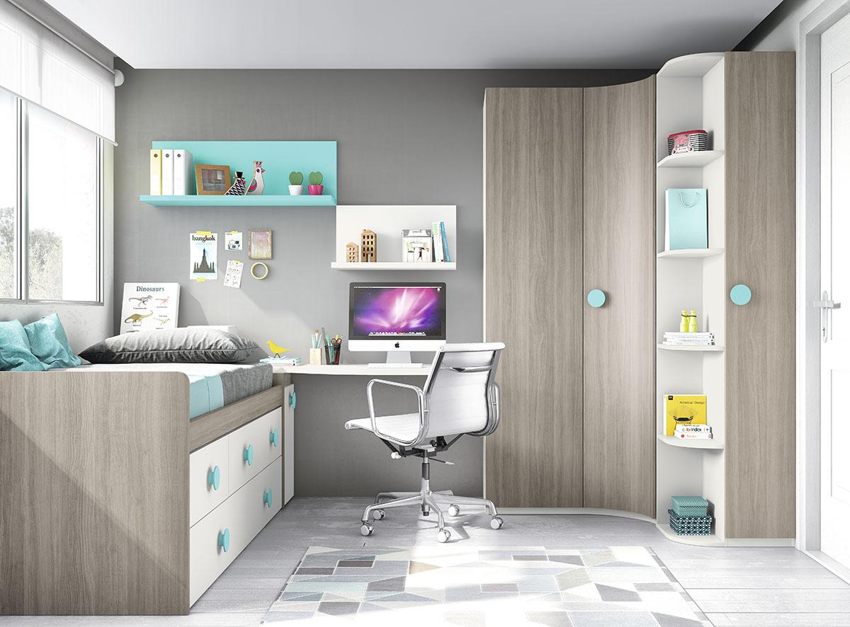 Dormitorios juveniles muebles rogelio gurrea for Diseno de muebles dormitorios juveniles