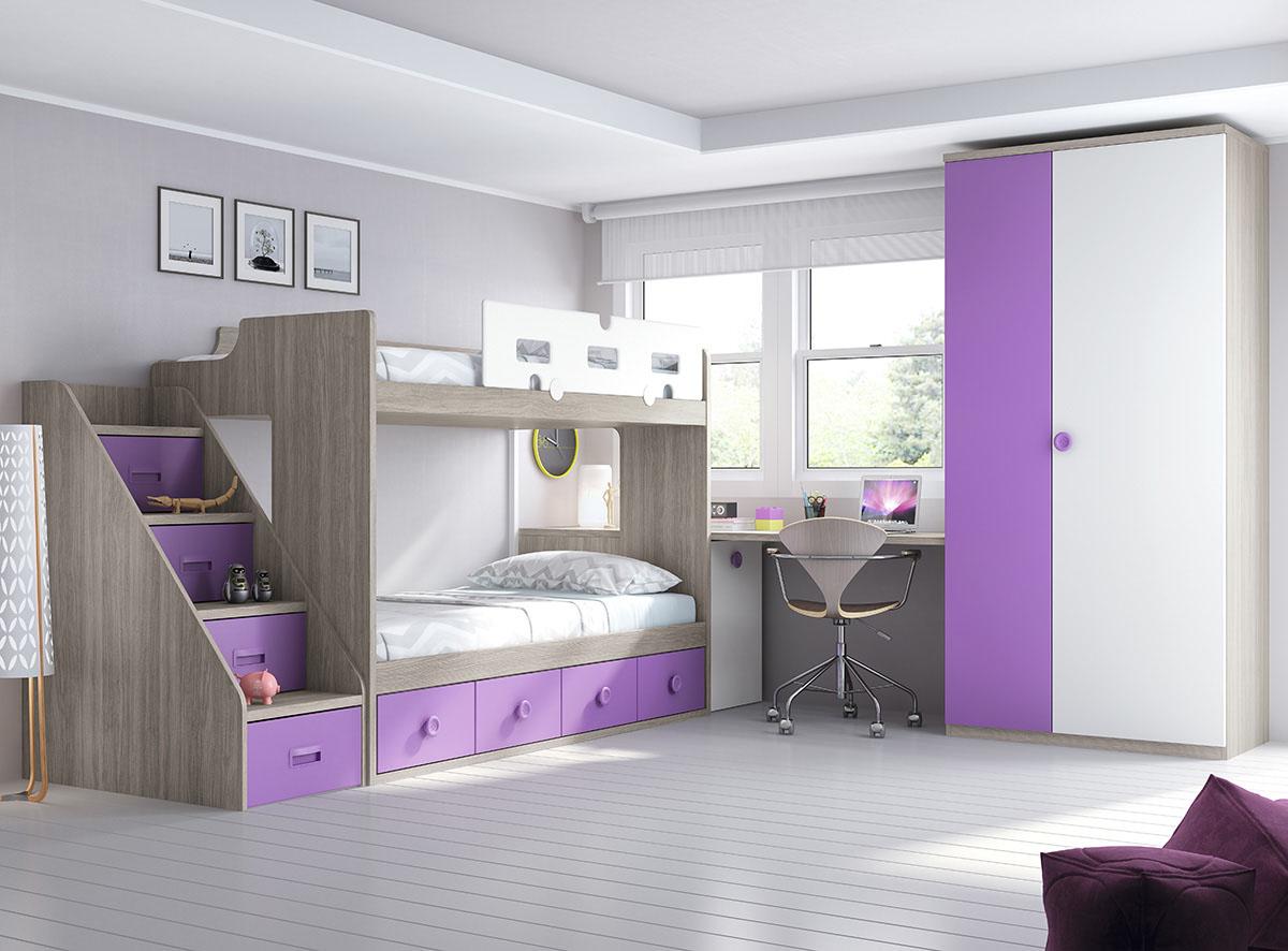 Dormitorios juveniles muebles rogelio gurrea for Dormitorios con literas